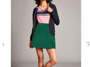 JACK WILLS Mae A Line Cord Skirt - forest Green - UK Size 12