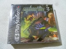 NEW SEALED PLAYSTATION PS1 GAME SYPHON FILTER 3 911 FLAG COVER RARE UNRELEASED >