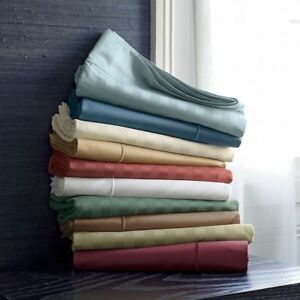 1000 Thread Count Organic Cotton Soft Bedding Items All Striped Color & US Sizes