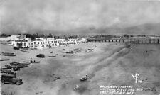1940s Ensenada BC Mexico Balneario y Playas Waterine Place Beach RPPC 9108