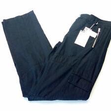 Pantalone uomo taglia 46 cotone cargo militare nero L32 SASCH