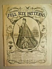 Antique Catalog - Pattern Book - Antique Fashion Pattern Catalog - Summer 1864
