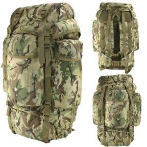 ARMY 60 LITRE PADDED RUCKSACK MTP BTP CAMOUFLAGE BAG CADET BACKPACK HIKING