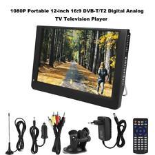 12 POLLICI TELEVISORE PORTATILE DIGITALE DVB-T/T2 HD TV PLAYER LETTORE USB HDMI
