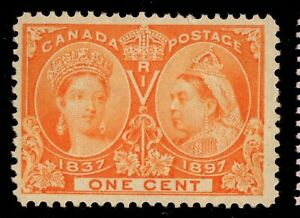 #51 Jubilee 1c Canada mint never hinged