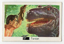 1960s Swedish Pop Star Card #37 Tarzan of the Jungle with Beatles Sectional Back