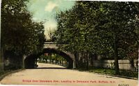 Vintage Postcard - 1910 Bridge Over Delaware Park Buffalo New York NY #4302