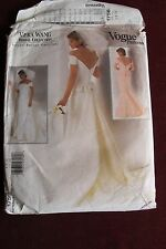 Vtg Vogue Bridal Design Sewing pattern cut Wedding Dress No. 1756