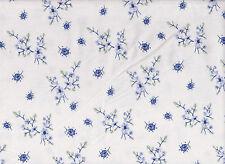 Blue Floral #2 Flannelette Fabric 108cm Wide (per metre)