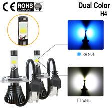 80W LED Driving Fog Light H4 HB2 9003 Hi/Lo Beam Dual Color Ice Blue + White