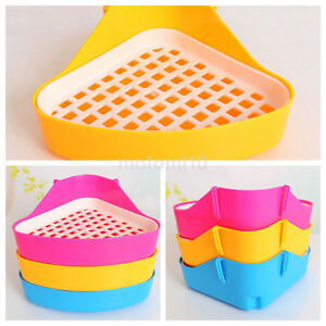 Pet Cat Rabbit Pee Toilet Small Animal Hamster Guinea Pig Litter Tray Corner Hot