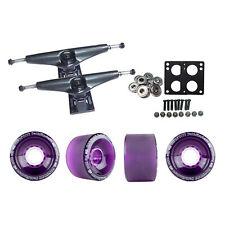 Core 6.0 Black Longboard Trucks Wheels Package Bigfoot 70mm Pathfinders Purple