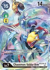 Chaosmon  Valdur Arm BT4-091 SR Alternate Digimon Card