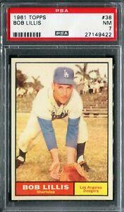 1961 Topps #38 Bob Lillis PSA 7 NM