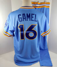 2018 Seattle Mariners Ben Gamel #16 Game Issued Blue 1979 TBTC Jersey Pants