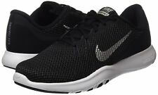 NIKE Women's Flex 7 Cross Trainer, Black/Metallic Silver-Anthracite-White 6 Med