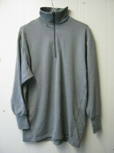 Dutch Army Grey Thermal Top Thick Warm Zip Neck Norgie Vest Military Surplus