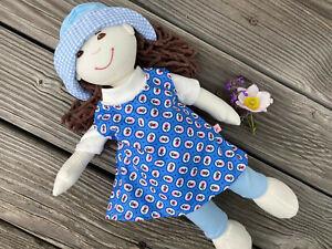 KLEIDUNG + Schuhe für friends Puppen Gr. 36-38 LOTTA PAOLA SOURI millefleur blau