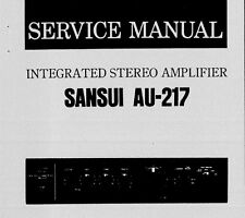 SANSUI AU-217 INTEGRATED STEREO AMP SERVICE MANUAL INC SCHEM DIAG PRINTED ENG