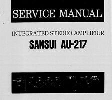 SANSUI AU-217 INTEGRATED STEREO AMP SERVICE MANUAL INC SCHEM DIAG PRINTED ENG