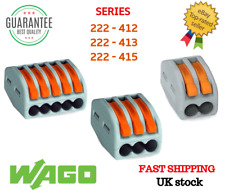 WAGO 222-412/413/415 Series Reusable Electrical Wire Cable Connectors Compact UK