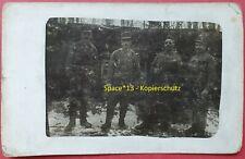 Foto Kuk Soldaten mit Orden Portrait vor Unterstand an Italien Front wk1 Soldier