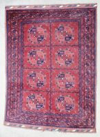Rug carpet antique oriental tribal Afghan Turkmen Turkoman 1950