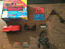 Nintendo Virtual Boy System / Console -Headset+Controller+Mario Tennis+Red Alarm