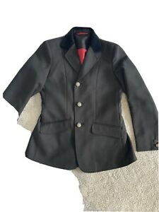 Black Shires Girls Horse Riding Jacket Size 30 Approx Age 10