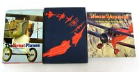 History of Aircraft Planes 3 oversize books Golden Age Pictorial Illustrated