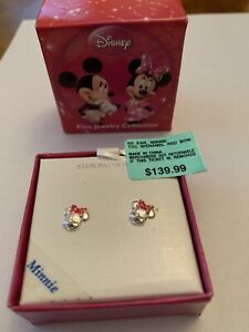 NWT Disney Minnie Mouse Sterling post earrings Ret $140