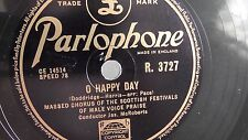 Scottish Festivals of Male Voice Praise - 78rpm 10-inch –  Parlophone #R.3727