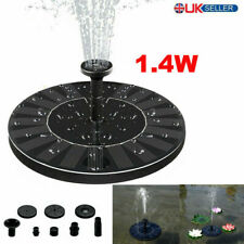 NEW Solar Powered Floating Pump Water Fountain Birdbath Home Pool Garden Decor