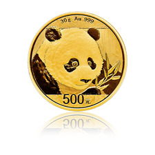 500 Yuan China 2018 - 30 g Gold Panda 2018 eingeschweißt