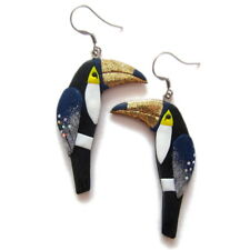 Wild Tropical Exotic Beach Holiday Summer Toucan Bird Statement Earrings Fashion