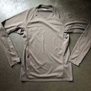 Men's Patagonia Long-Sleeved Fore Runner Brown Lightweight T Shirt Tee Sz Small