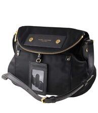 Marc Jacobs Preppy Natasha Nylon Hobo Crossbody Bag, Black and Gold 🖤💛