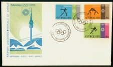 Mayfairstamps Cyprus 1972 Olympics Germany First Day Cover wwf58917