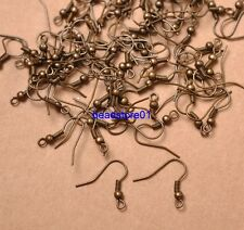 100pcs Bronze Plated EARRING HOOK COIL EAR WIRE FOR JEWELRY Making Findings 18MM