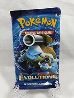 Pokemon TCG XY Evolutions Blastoise Cover Booster Pack Sealed 2016 Aus Seller