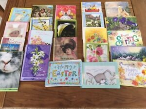 LOT OF 80 EASTER CARDS & ENVELOPES BY LEANIN' TREE  RETAIL OVER $235