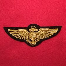 Navy/Marine Corps Pilot Wings Patch Gold Bullion