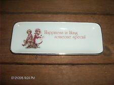 Vintage Genuine Porcelain Trinket Plate Designers Collection Love Talk Japan