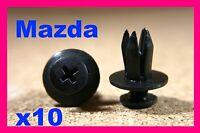 For MAZDA 10 wheel arch flare clips splash guard trim fasteners screw