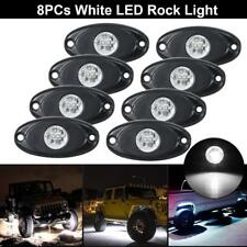 8PCs CREE 9W White LED Rock Light Bright Wheel RV For Jeep Boat Off Road Truck