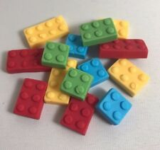 96 Edible Sugarpaste Lego Bricks ( BRICKS ONLY ) Cupcake/BirthdayToppers- BOYS