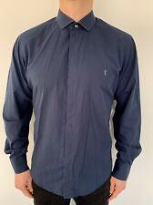 Yves Saint Laurent Shirt Large Navy Mens Vintage Smart Casual Retro
