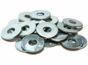 PACK OF 500, M4 HEAVY DUTY FORM A WASHERS - BZP - DIN125A BRIGHT ZINC PLATED *