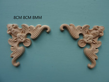 1 gold Furniture Drop Decorative Appliques Mouldings Onlays Decals 13cm x3cm
