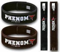 Phenom Genuine Leather Lever Belt Weight Lifting Bodybuilding Power Fitness R